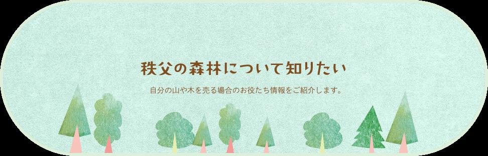 秩父の森林について知りたい